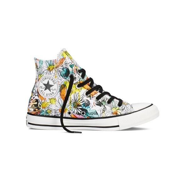 7749d8731c0 Converse Shoes | New Size 10 Floral Chucks Daisy Print | Poshmark